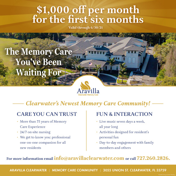 Memory Care Move in Offer Aravilla Clearwater